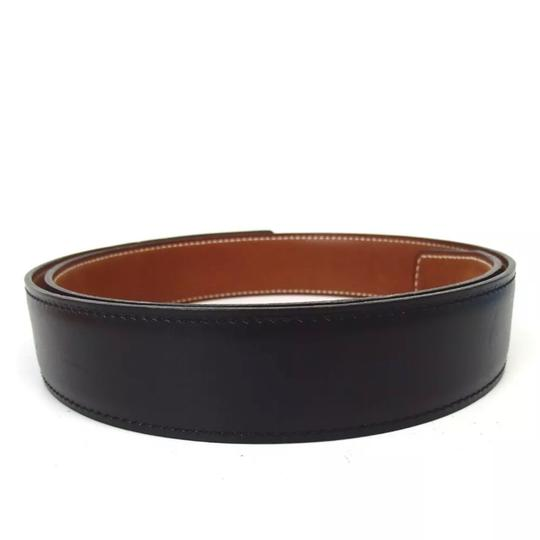 Hermès Hermès logo reversible black brown belt 75 Image 3