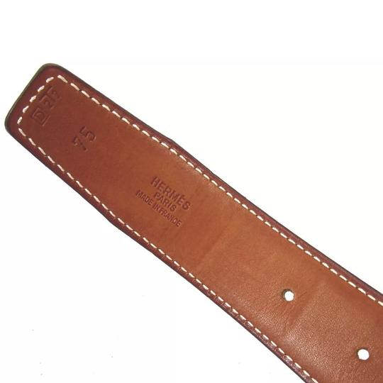 Hermès Hermès logo reversible black brown belt 75 Image 6