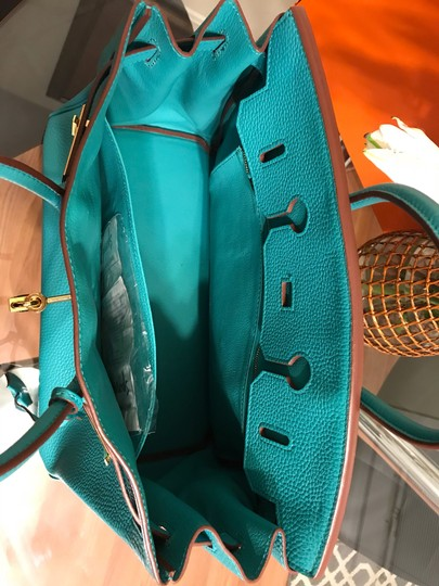 Hermès Satchel in turquoise Image 11