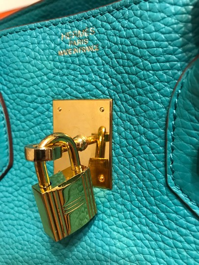 Hermès Satchel in turquoise Image 2