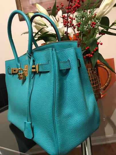 Hermès Satchel in turquoise Image 4
