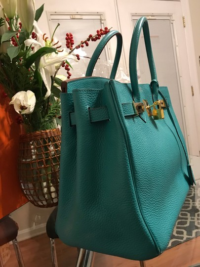 Hermès Satchel in turquoise Image 6