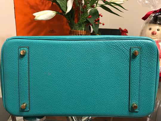 Hermès Satchel in turquoise Image 7