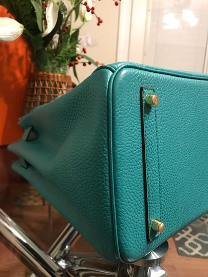 Hermès Satchel in turquoise Image 8