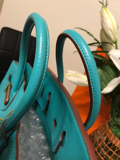 Hermès Satchel in turquoise Image 9