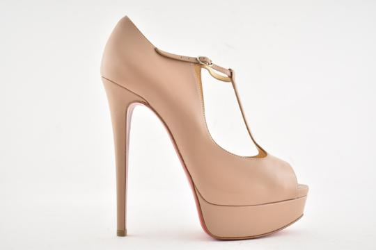 Christian Louboutin Stiletto Classic Choca Crisscross Strap Ankle Strap nude Pumps Image 1