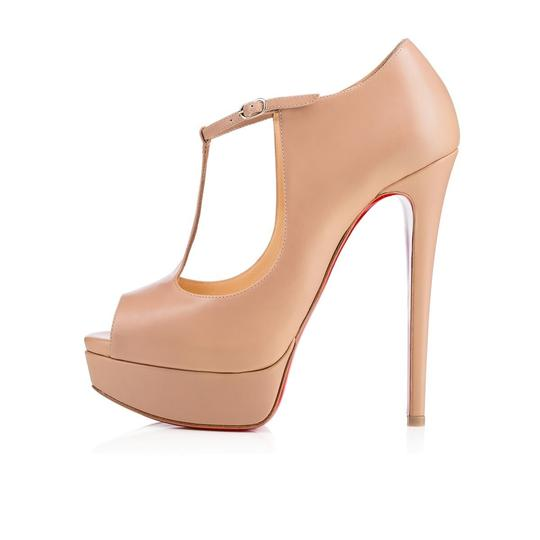 Christian Louboutin Stiletto Classic Choca Crisscross Strap Ankle Strap nude Pumps Image 2