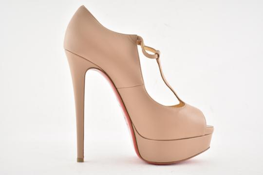 Christian Louboutin Stiletto Classic Choca Crisscross Strap Ankle Strap nude Pumps Image 7