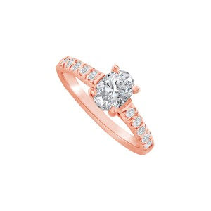 DesignByVeronica Oval Cubic Zirconia Ring in 14K Rose Gold Vermeil
