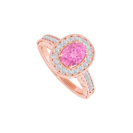 Preload https://img-static.tradesy.com/item/24488458/pink-sapphire-cz-halo-in-14k-rose-gold-vermeil-ring-0-0-540-540.jpg