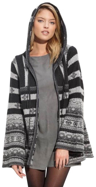 Preload https://img-static.tradesy.com/item/24488496/joie-alayah-vintage-babushka-capelet-cashmere-hooded-coat-rare-grey-sweater-0-3-650-650.jpg