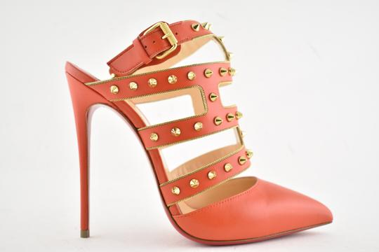 Christian Louboutin Stiletto Classic Choca Crisscross Strap Ankle Strap orange Pumps Image 1