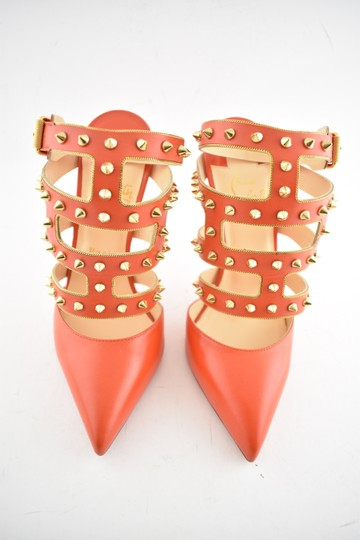 Christian Louboutin Stiletto Classic Choca Crisscross Strap Ankle Strap orange Pumps Image 5
