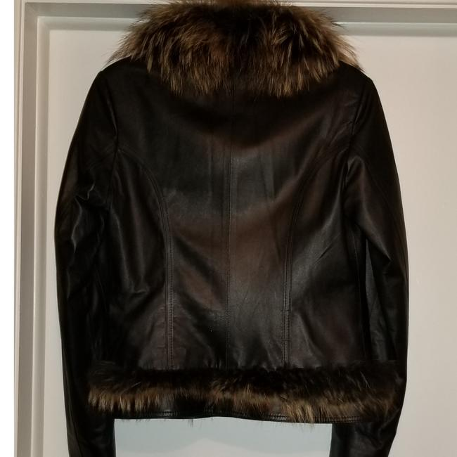 Leather and Fox Fur Coat Image 2