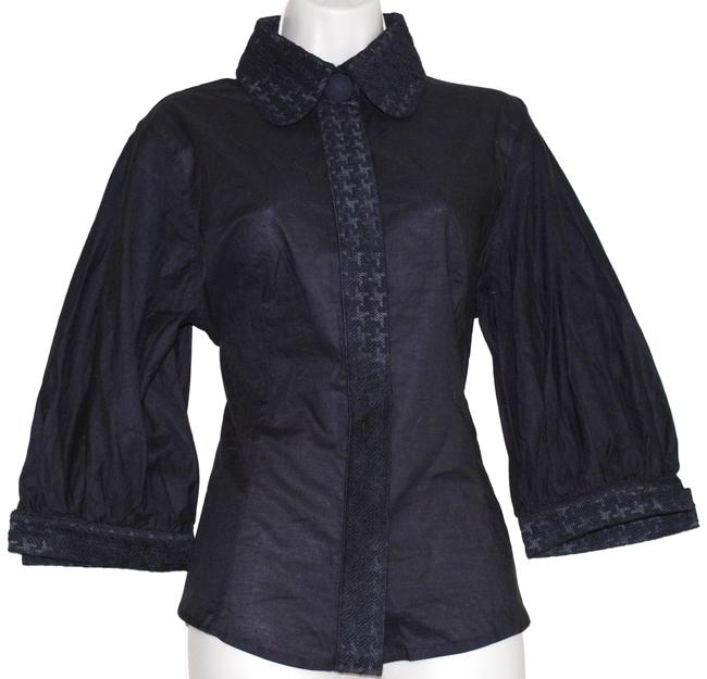 Preload https://img-static.tradesy.com/item/24488610/anne-fontaine-black-astride-cotton-stretch-blouse-button-down-top-size-10-m-0-1-650-650.jpg
