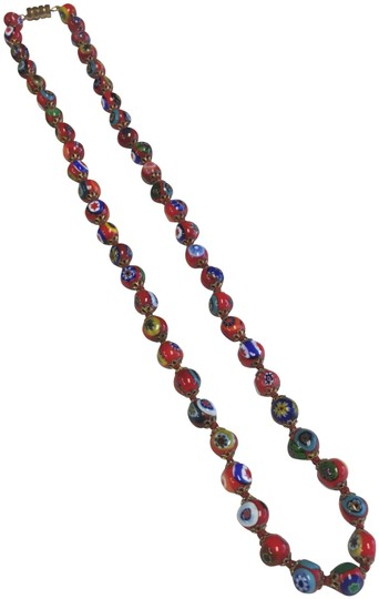 Preload https://img-static.tradesy.com/item/24488674/red-colorful-glass-flower-beaded-necklace-0-1-540-540.jpg