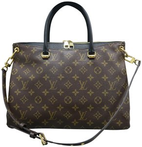 Louis Vuitton Lv Pallas Monogram Canvas Black Satchel in Brown