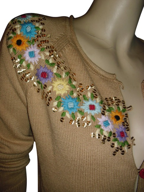 Preload https://img-static.tradesy.com/item/24488775/whistles-taupe-beige-london-british-embroidered-multicolor-jeweled-assorted-button-cardigan-size-8-m-0-1-650-650.jpg