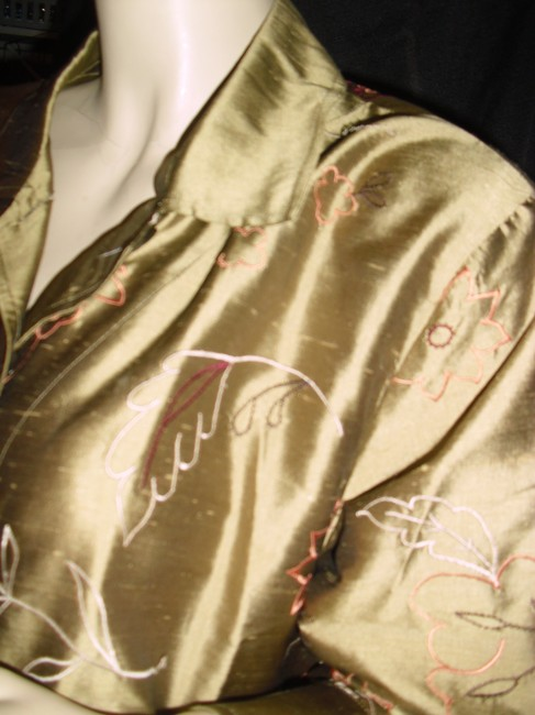 French Laundry Button Down Shirt golden liquid silk Image 3