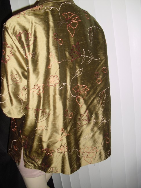 French Laundry Button Down Shirt golden liquid silk Image 5