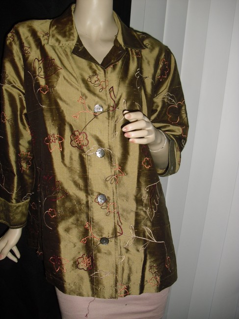 French Laundry Button Down Shirt golden liquid silk Image 1