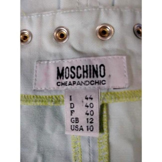Blue Maxi Dress by Moschino Jumper Denim Mint Green Size 10 Top Image 4