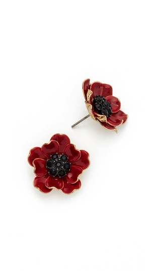 Kate Spade Kate Spade Red Poppies Earrings NWT Image 1