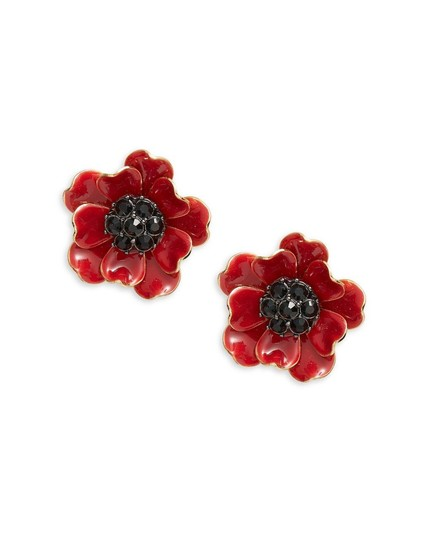 Kate Spade Kate Spade Red Poppies Earrings NWT Image 2