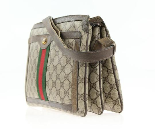 Gucci Accordion Bottom Multiple Compartment Accessory Col Mint Condition Shoulder Bag Image 10