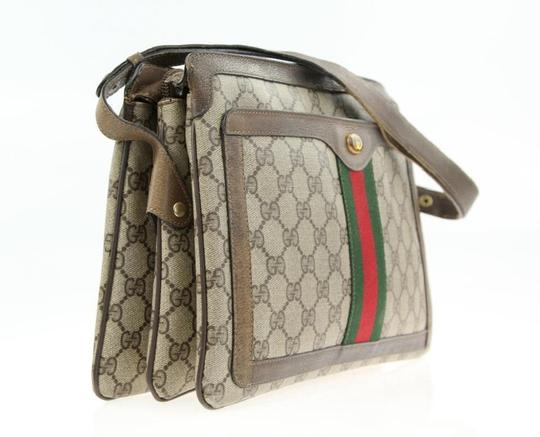 Gucci Accordion Bottom Multiple Compartment Accessory Col Mint Condition Shoulder Bag Image 3