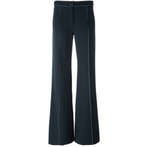 Lemaire Wool Flare Pants blue