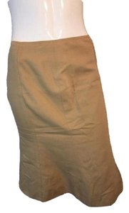 Moschino Below The Knee Line Size 8 Skirt Tan
