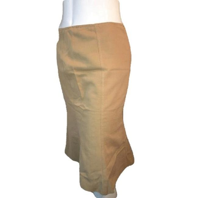 Moschino Below The Knee Line Size 8 Skirt Tan Image 1