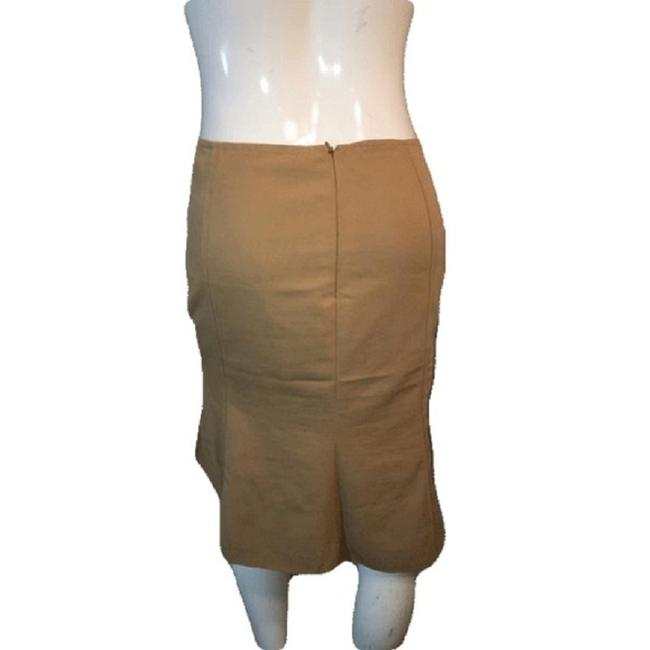 Moschino Below The Knee Line Size 8 Skirt Tan Image 2