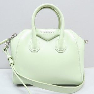 Givenchy Mini Antigona Calfskin Satchel in light green