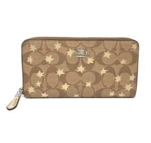 Coach Coach Accordion Zip Wallet In Signature Canvas With Pop Star Print