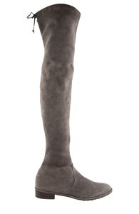 Stuart Weitzman Over The Knee Stretch Suede Pull On Gray Boots