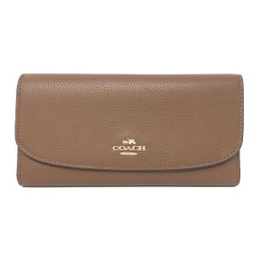 Coach Coach Saddle Pebbled Leather Checkbook Women's Wallet