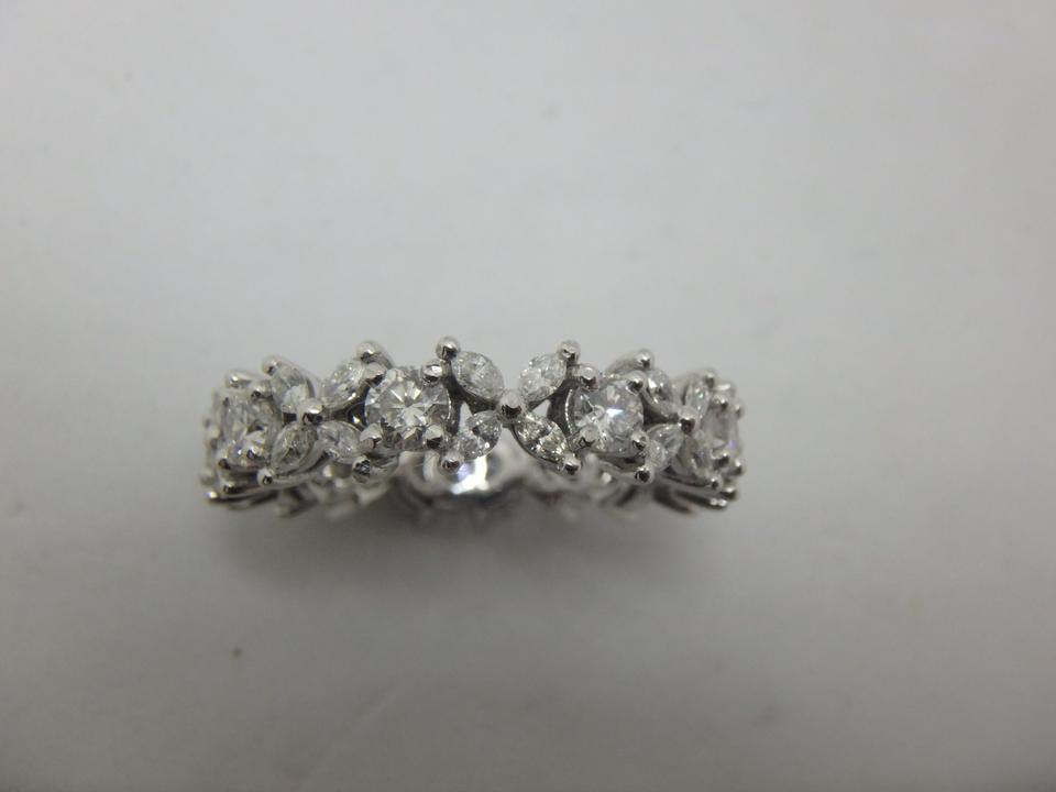 202a272df Tiffany & Co. Platinum and Diamond Victoria Alternating Band Ring ...