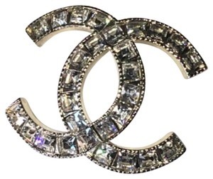 Chanel Chanel XL Gold Crystal CC Brooch
