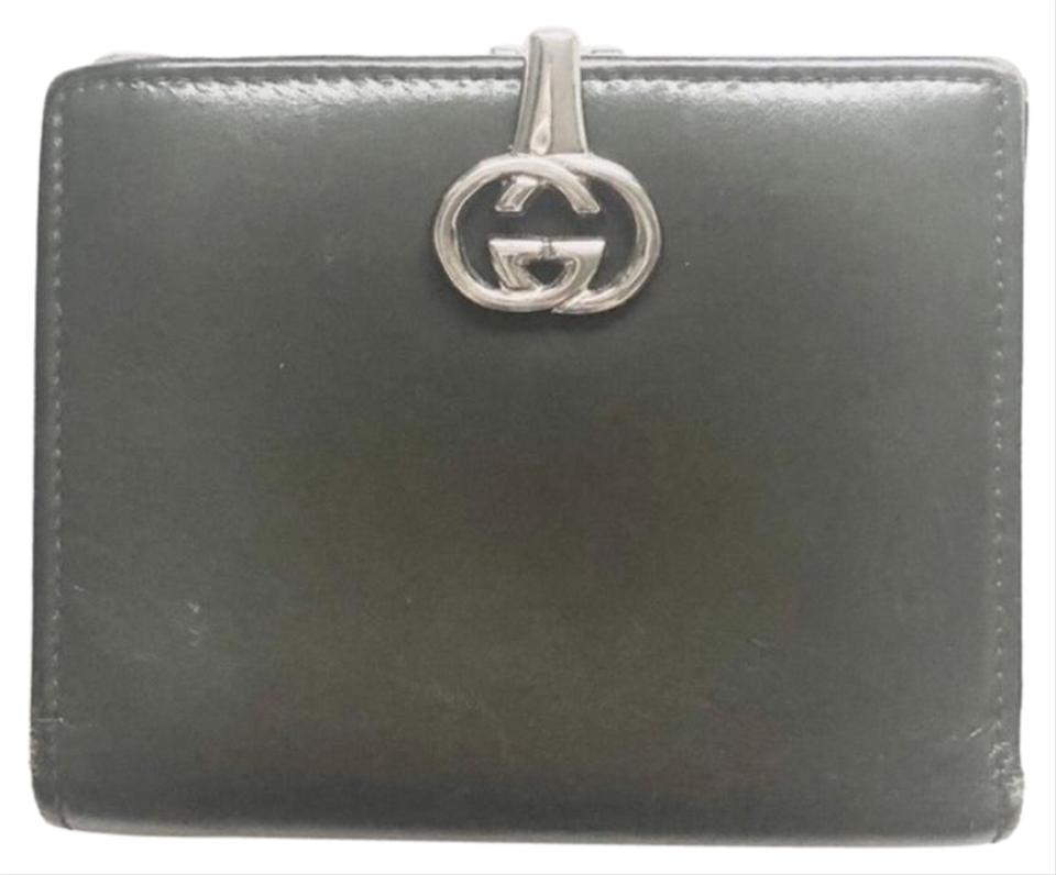 0c08e212b44a79 Gucci Green Gg Clasp Leather Wallet - Tradesy