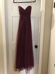 Jenny Yoo Black Cherry Chiffon Annabelle Formal Bridesmaid/Mob Dress Size 4 (S)