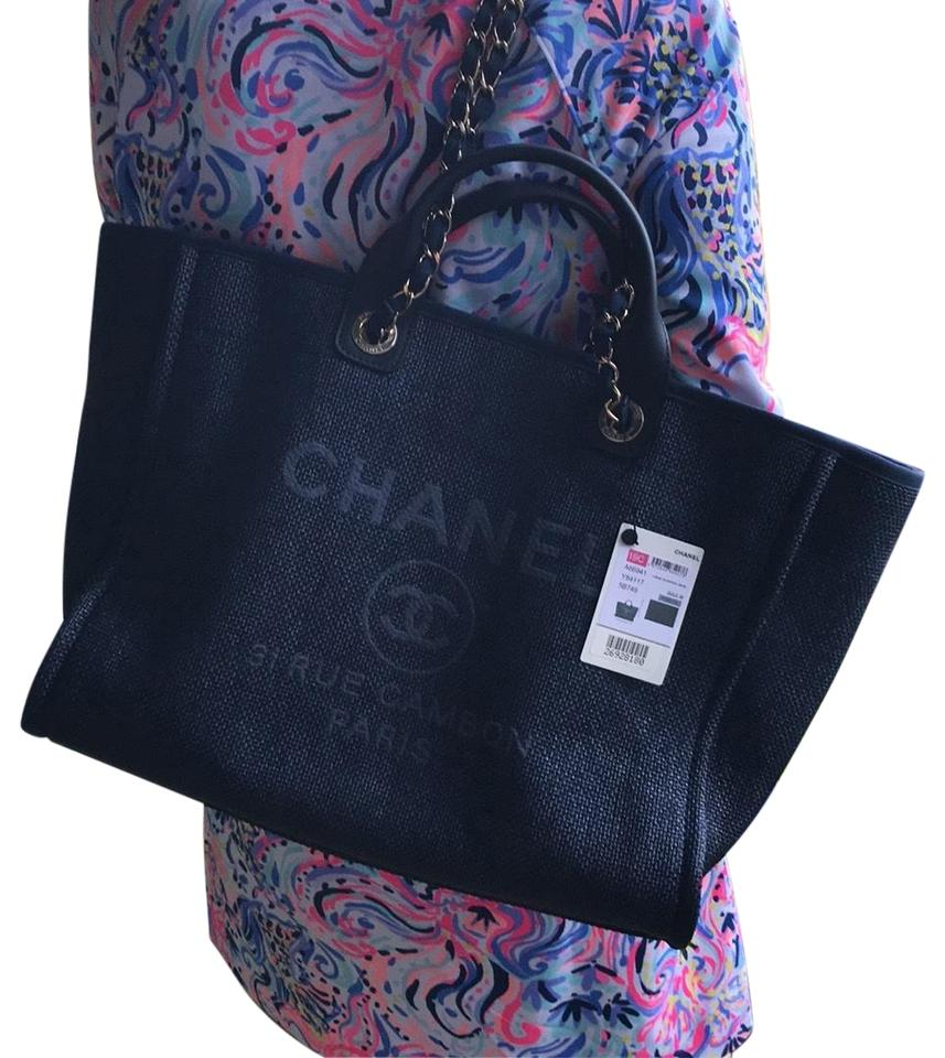 53f2bace5 Chanel 2019 New 2019 Deauville 2019 New New Tote in navy Image 0 ...