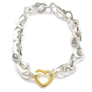 """Tiffany & Co. BEAUTIFUL!!!! Tiffany & Co. 18 Karat Yellow Gold and Sterling Silver Heart Link Bracelet 18 Karat Yellow Gold Sterling Silver 7.5"""" 100% Authentic Guaranteed!!! Comes with Tiffany Pouch and Tiffany Blue Colored Polishing Cloth!!!"""