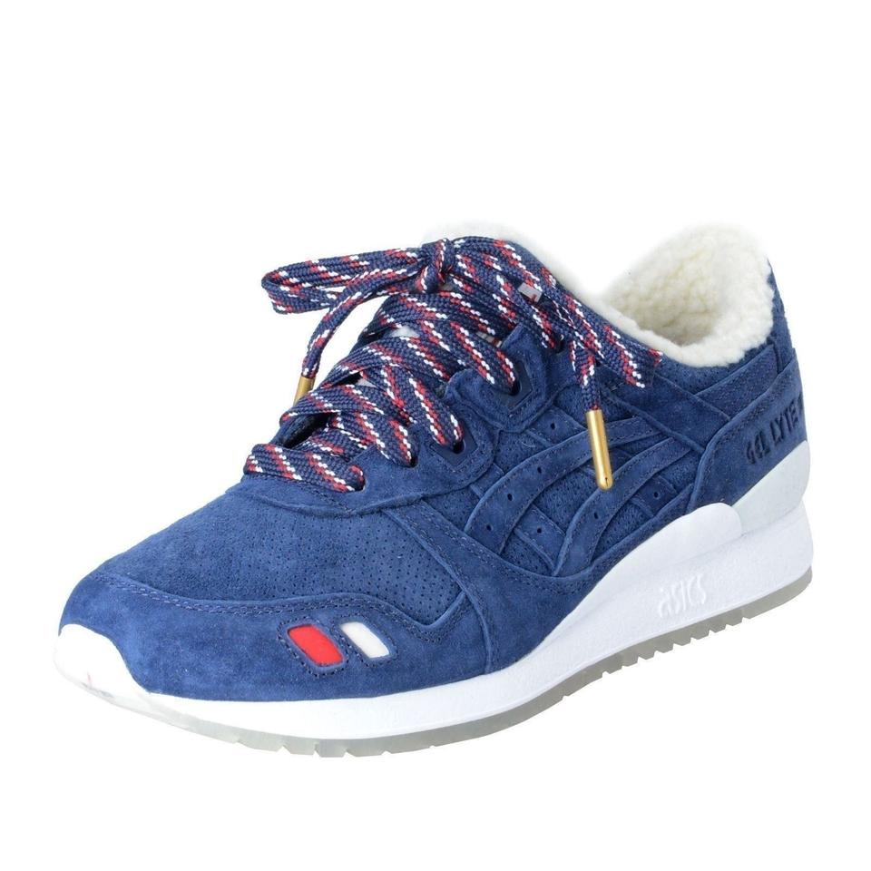 sale retailer f143c d5794 Moncler Blue Kith X Asics Mens Gel-lyte Iii Navy/White Suede Sneakers Size  US 9 Regular (M, B) 62% off retail