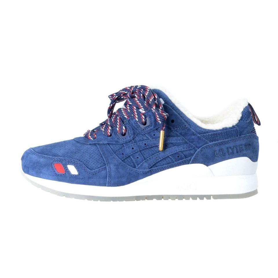 sale retailer 57571 81f55 Moncler Blue Kith X Asics Mens Gel-lyte Iii Navy/White Suede Sneakers Size  US 9 Regular (M, B) 62% off retail