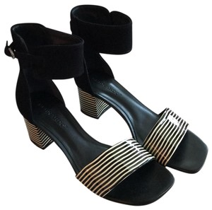 Bernardo Black and white stripes Sandals