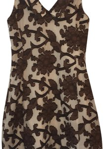 MILLY short dress brown and white on Tradesy