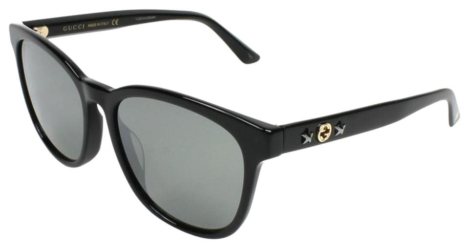 fca45a8d84 Gucci 002 Black New Women s Gg0232sk Black Grey Mirror Lens Oval Sunglasses
