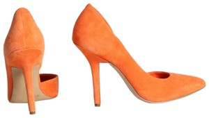 BCBGMAXAZRIA Suede Classic Orange Pumps